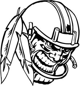 Football Helmet Braves / Indians / Chiefs Mascot Decal / Sticker