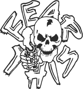 Fear This Skull Decal / Sticker