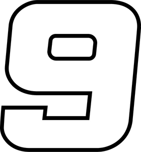 9 Race Number Decal / Sticker j