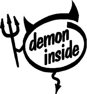 Demon Inside Devil Decal / Sticker