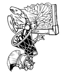 Trojans Basketball Mascot Decal / Sticker