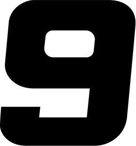 9 Race Number Decal / Sticker i