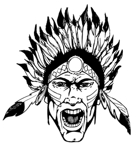 Braves / Indians / Chiefs Mascot Decal / Sticker ahd1