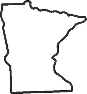 Minnesota Decal / Sticker 02
