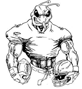 Football Hornet, Yellow Jacket, Bee Mascot Decal / Sticker 10