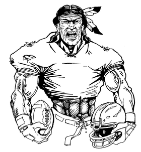 Football Braves / Indians / Chiefs Mascot Decal / Sticker fb08