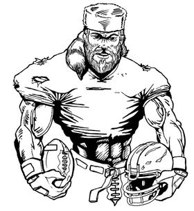 Football Frontiersman Mascot Decal / Sticker 7