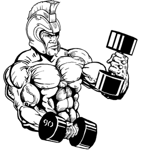 Weightlifting Paladins / Warriors Mascot Decal / Sticker 2
