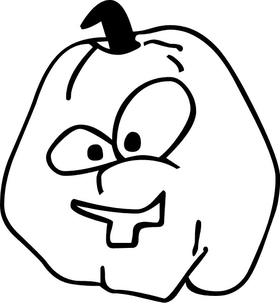 Jack-O-Lantern Decal / Sticker 03