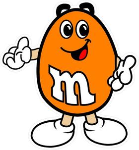 Orange M&M Decal / Sticker 15