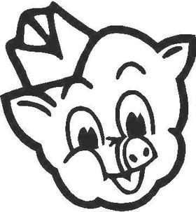 Pig Decal / Sticker 01