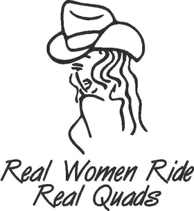 Real Women Ride Real Quads Decal / Sticker