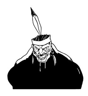 Braves / Indians / Chiefs Mascot Decal / Sticker hd10