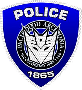 Decepticon Police Shield Decal / Sticker 32