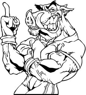 Razorback Mascot Decal / Sticker