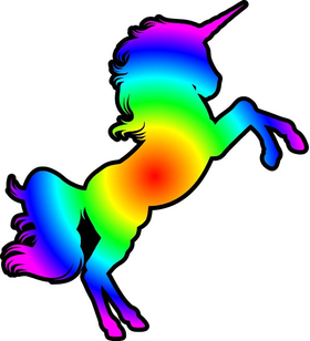 Rainbow Unicorn Decal / Sticker 20