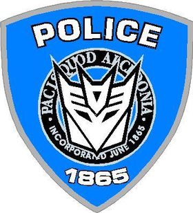Decepticon Police Transformers Decal / Sticker
