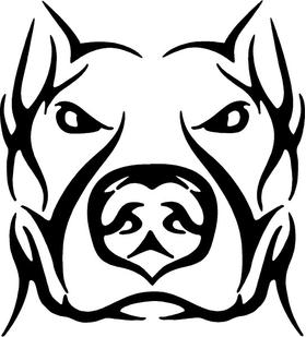 Pitbull Decal / Sticker 07