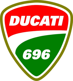 Ducati 696 Decal / Sticker 23
