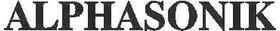Alphasonic 03 Decal / Sticker