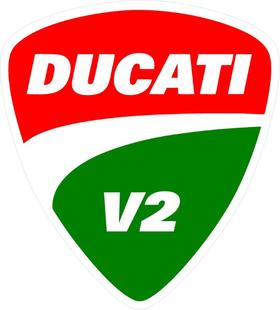 Ducati V2 Decal / Sticker 81