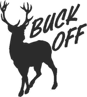 Buck Off Decal / Sticker