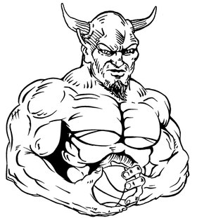 Basketball Devils Mascot Decal / Sticker 3