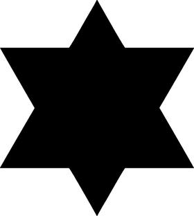 Jewish Star of David Decal / Sticker 07
