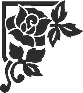 Rose Decal / Sticker 05