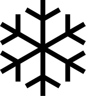 Snow Flake Decal / Sticker 05