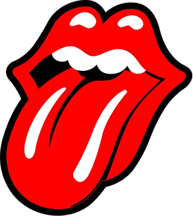 Rolling Stones Tongue Decal / Sticker 03