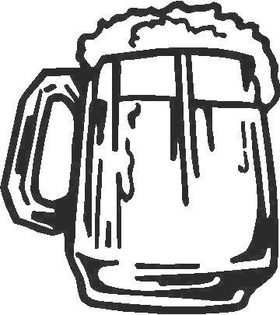 Beer Mug 04 Decal / Sticker