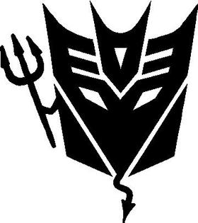 Decepticon Devil Decal / Sticker