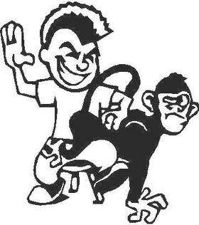 Spank the Monkey Decal / Sticker