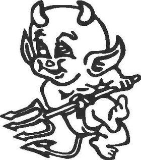 Little Devil Decal / Sticker 03