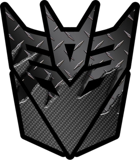 Transformers Decepticon 06 Black Carbon Plate Decal / Sticker 3