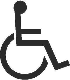 Handicapped Wheelchair Decal / Sticker 05