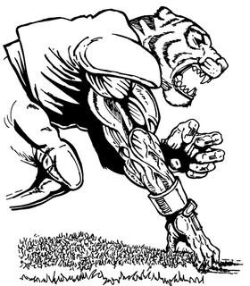 Football Tigers Mascot Decal / Sticker 8
