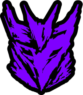 Purple Decepticon Decal / Sticker 37