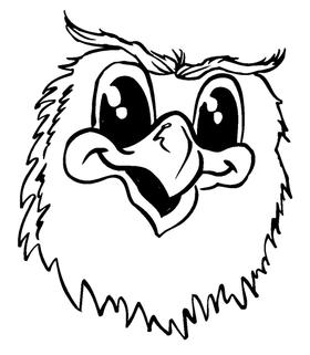 Owls Mascot Decal / Sticker 1
