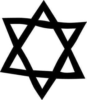 Jewish Star of David Decal / Sticker 04