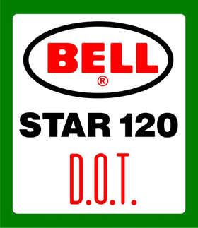Bell Helmets Star 120 D.O.T. Decal / Sticker 07