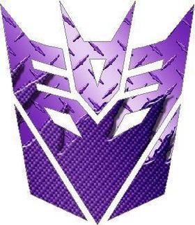 Transformers Decepticon 06 Purple Carbon Plate Decal / Sticker