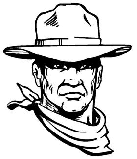 Cowboys Mascot Decal / Sticker 2