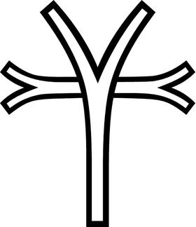 Christian Cross Decal / Sticker 83
