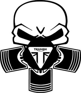 Triumph Piston Gas Mask Skull Decal / Sticker 71