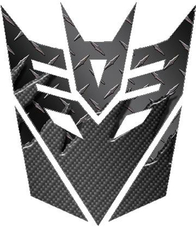 Transformers Decepticon 06 Black Carbon Plate Decal / Sticker 2
