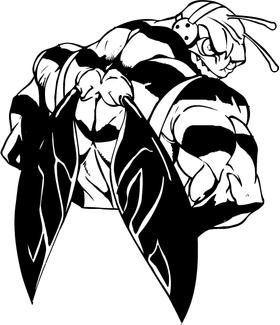 Football Hornet, Yellow Jacket, Bee Mascot Decal / Sticker 01B