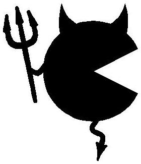 PacMan Devil Decal / Sticker