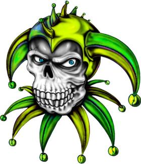 Joker Skull Decal / Sticker 02